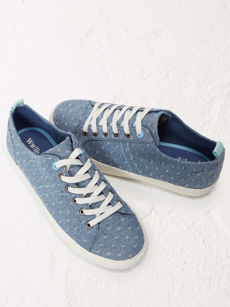 Dee Denim Lace Up Trainer