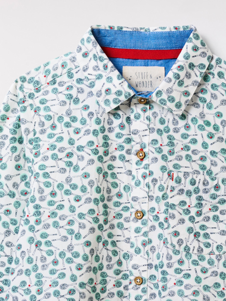 Time for Tennis Printed Shirt