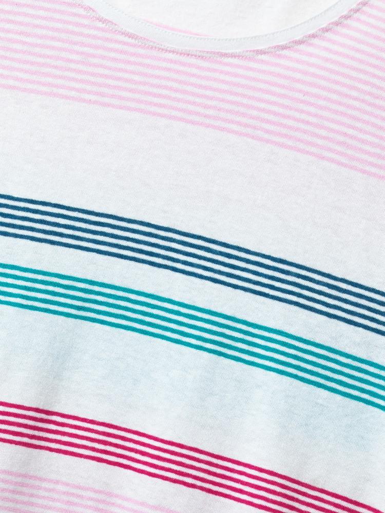 Elsa Linen Stripe Tee