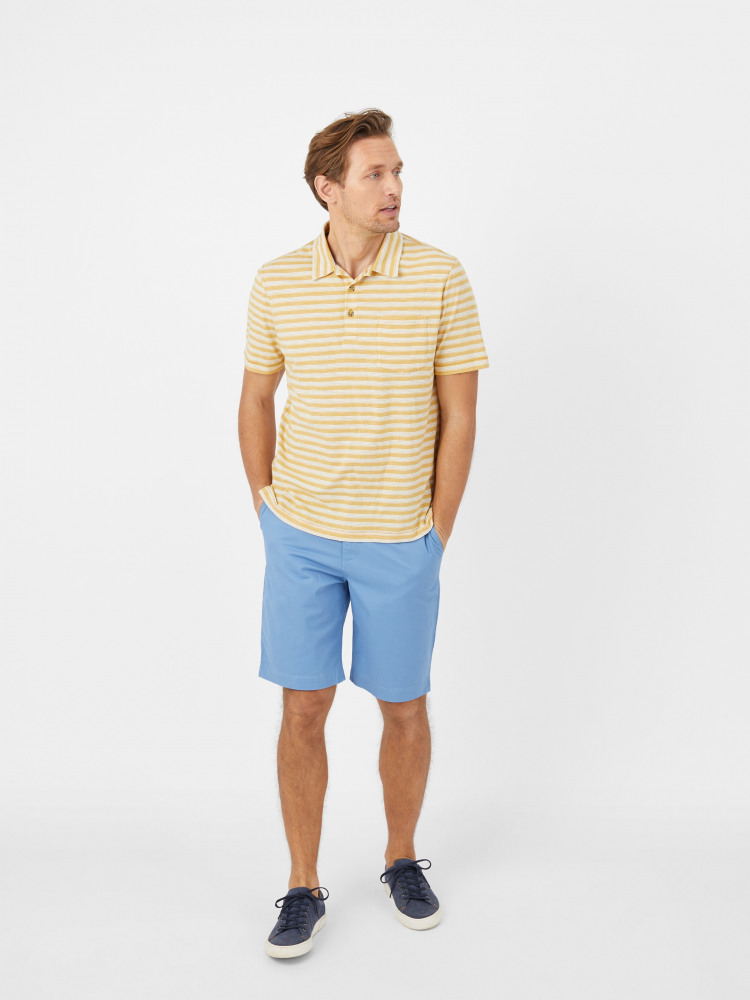 Python Textured Stripe Polo