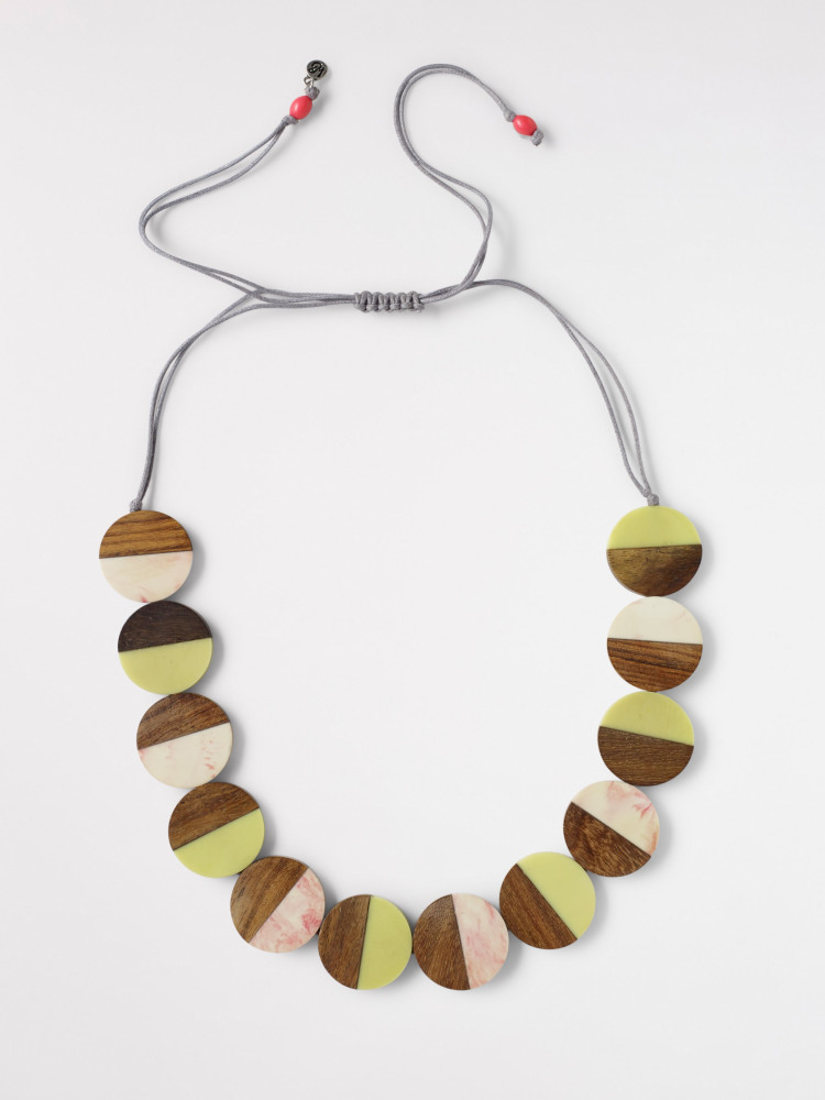 Wood Circle Necklace