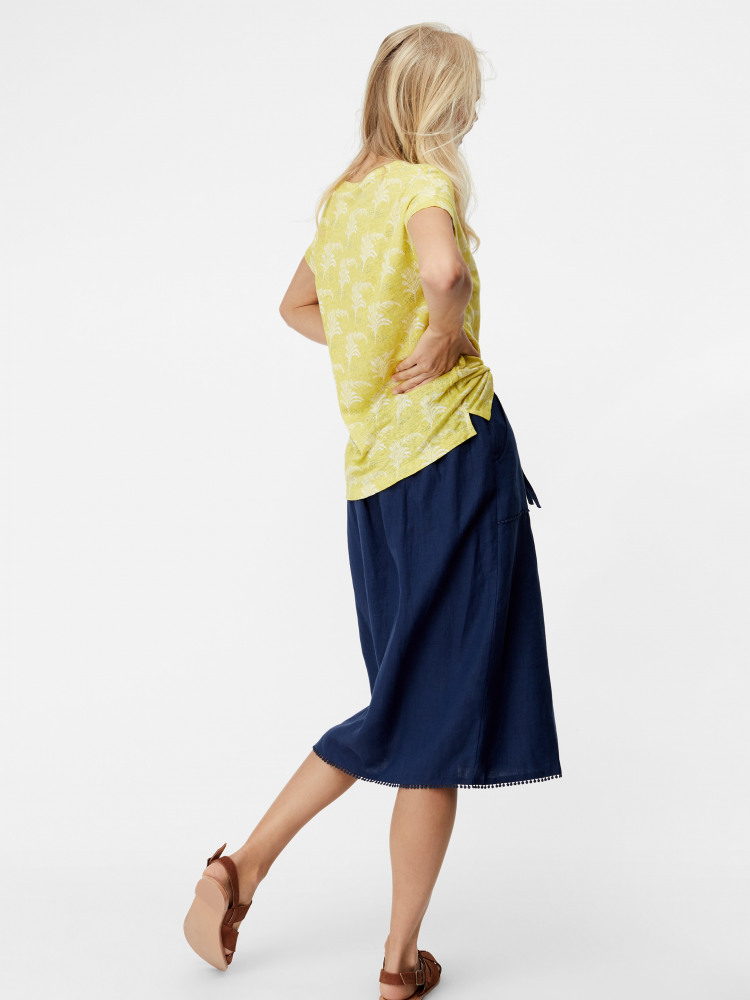 Portia Plain Linen Skirt