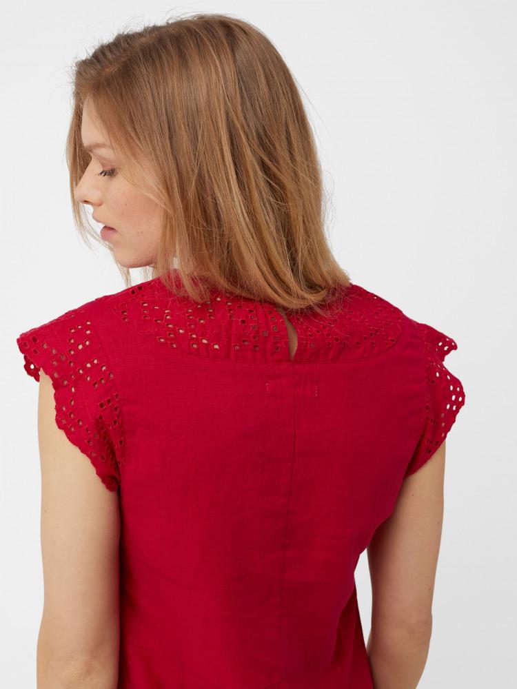 7803331b533 Lily Linen Dress (Spicy Pink Plain)