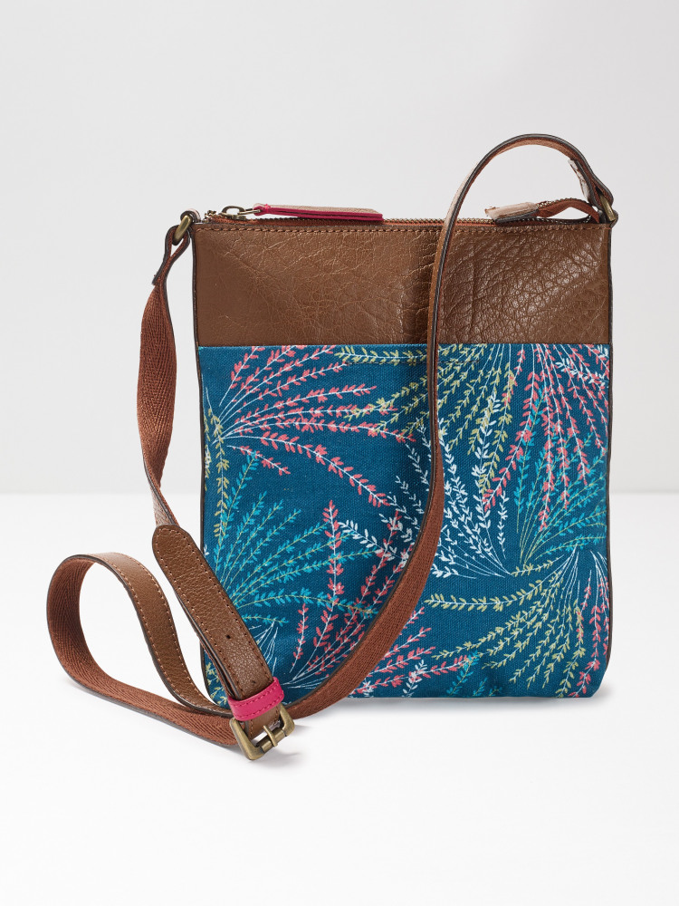 Cora Print Canvas Crossbody