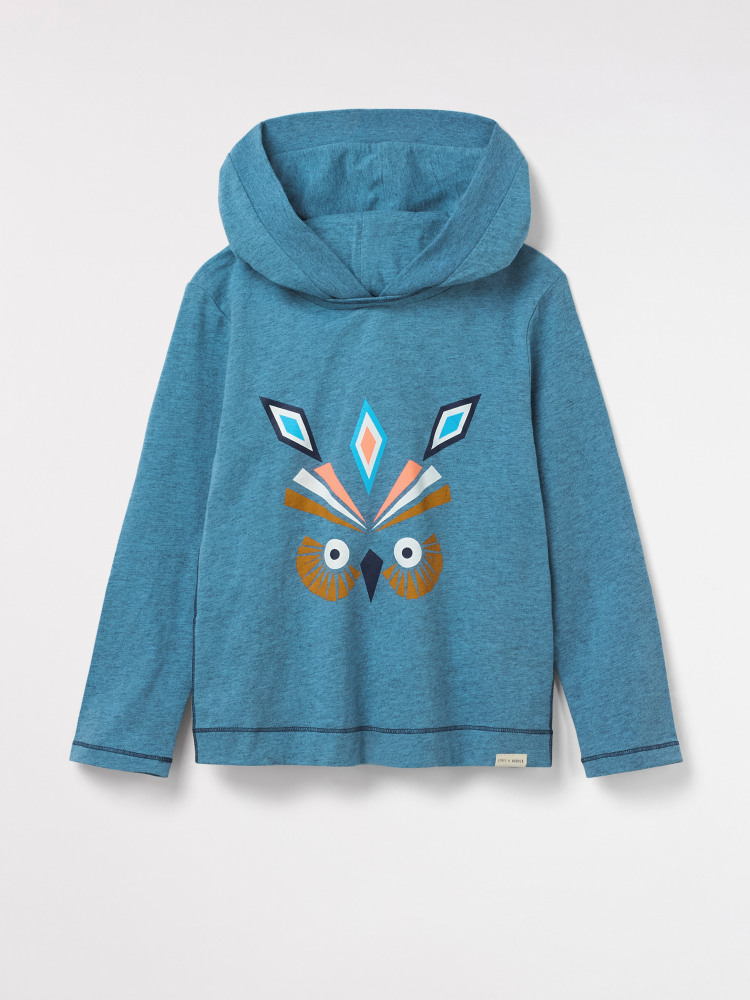 Aztec Long Sleeve Hooded Tee