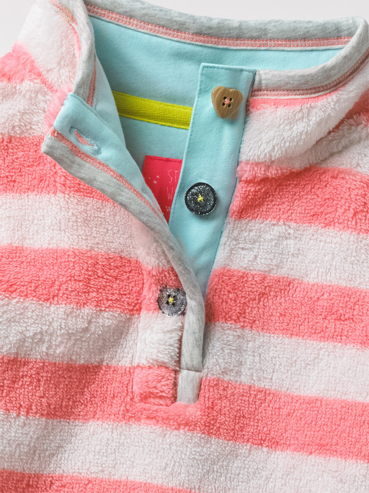 Posey Fleece Button Up Top