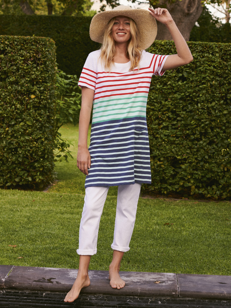 Poolside Jersey Tunic Top