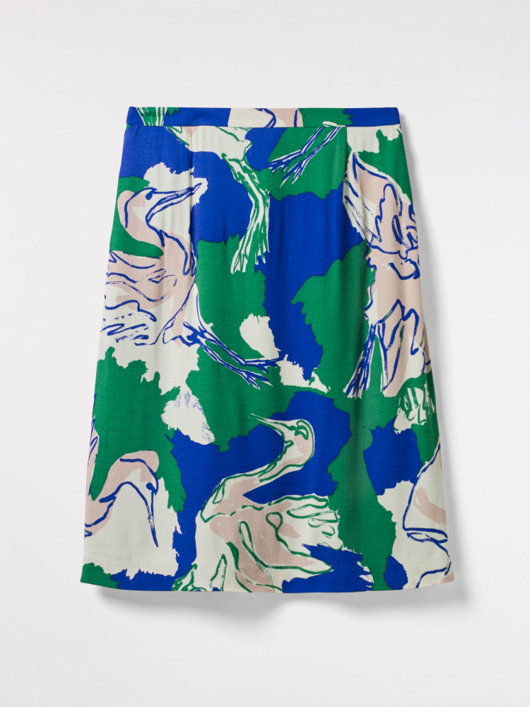 Painted Crane Skirt