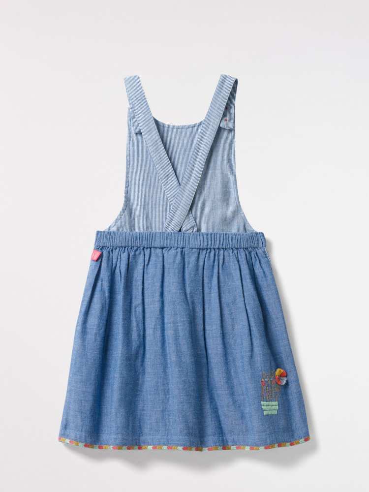 Camille Chambray Pinny Dress