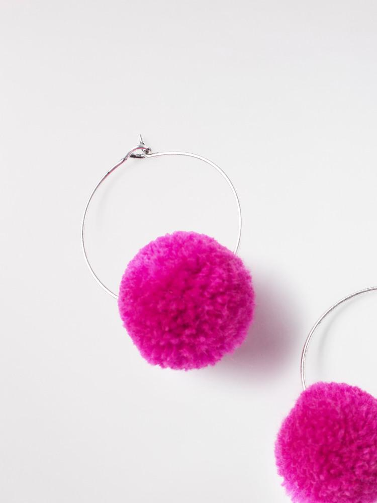 PomPom Hoop Earring