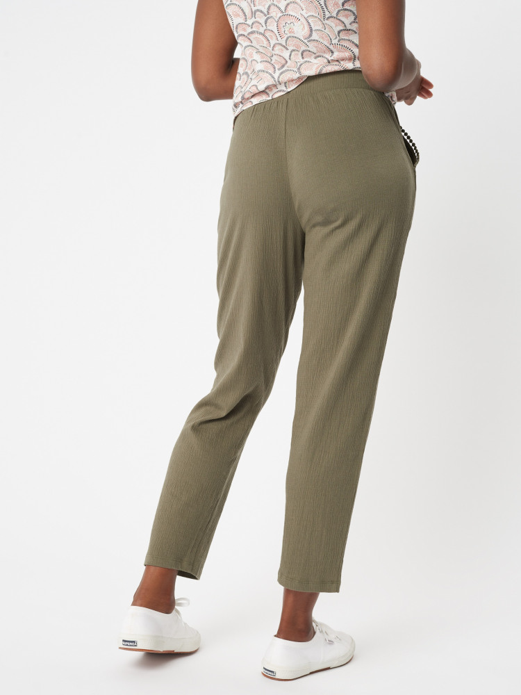 Clea Crinkle Straight Trouser