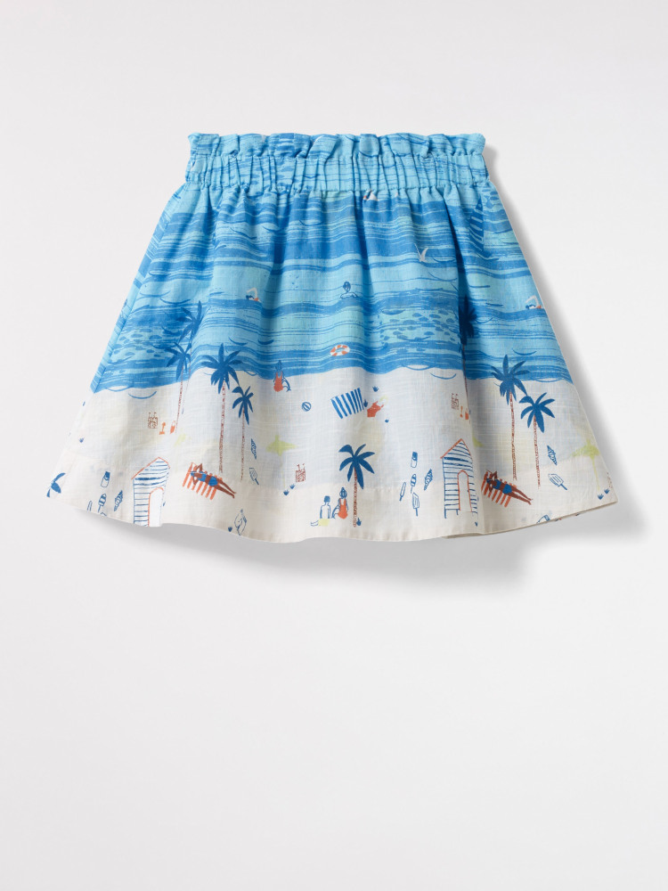 Beach Scene Reversible Skirt