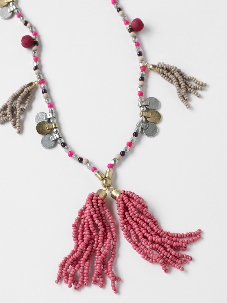 Pendant Tassel Necklace