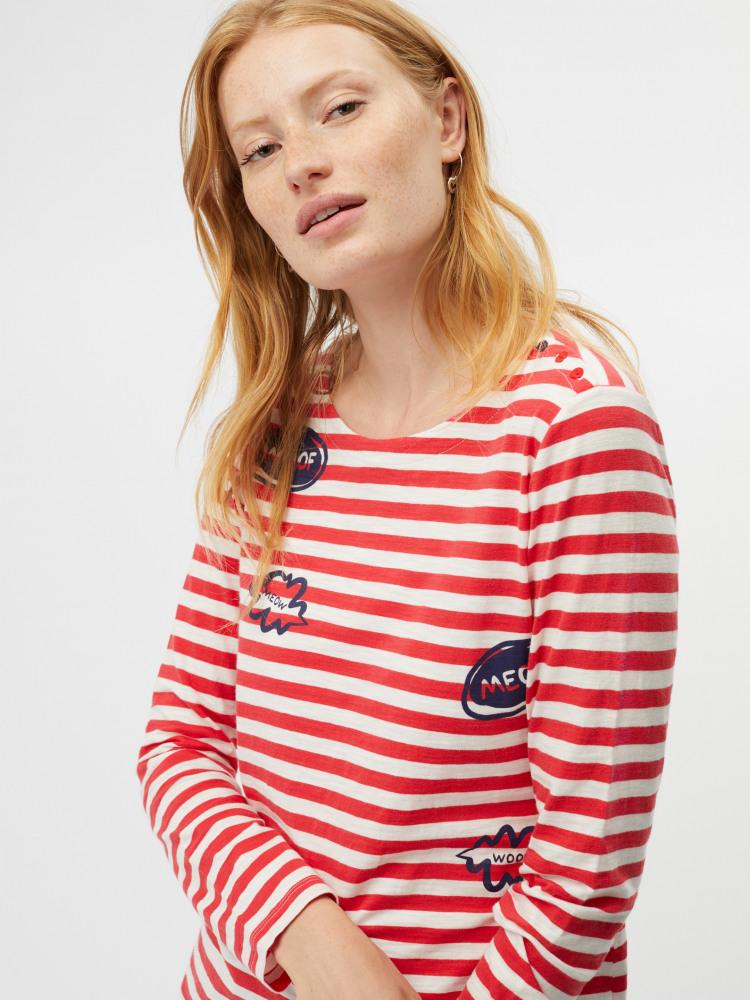 Meow Stripe Jersey Tee