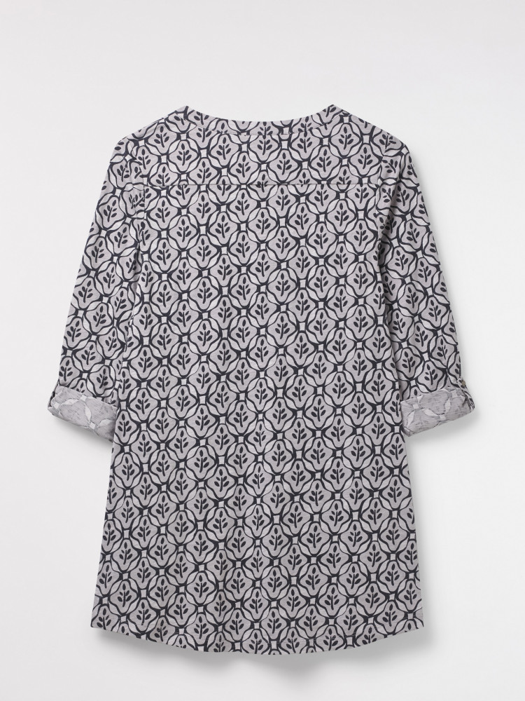 Criss Cross Jersey Tunic Top