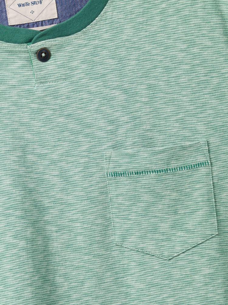 Eureka Microstripe Notch Neck