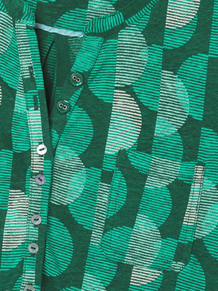 Ditsy Daisy Linen Jersey Shirt