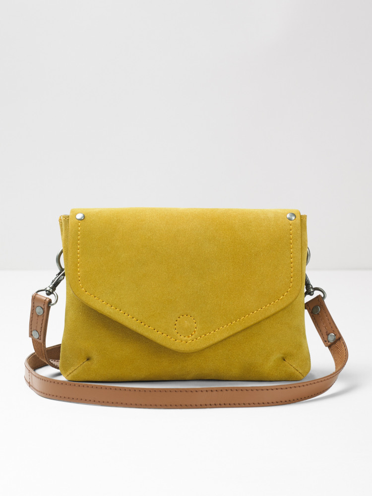 0820419a38 Josie Suede Crossbody Bag (Sunshine Yellow) | White Stuff