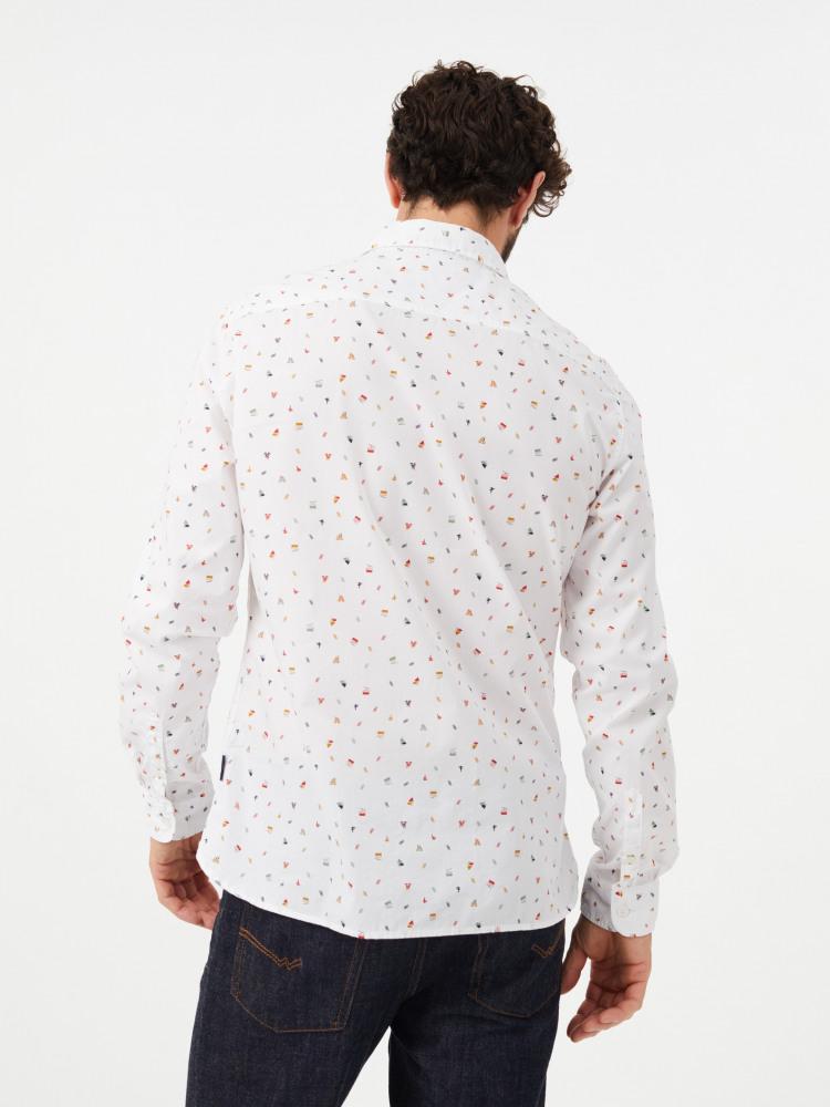 Ski Motif Printed Shirt