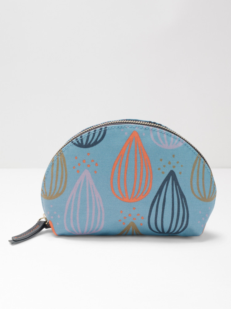 Pod Print Coated Makeup Bag