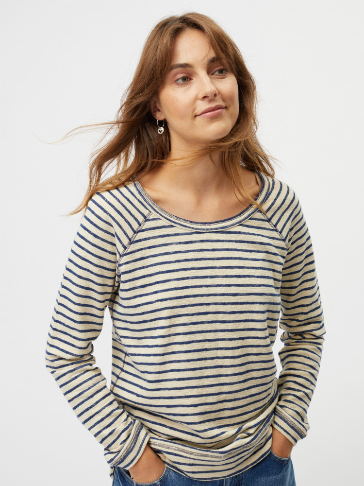 Sally Stripe Jersey Sweat