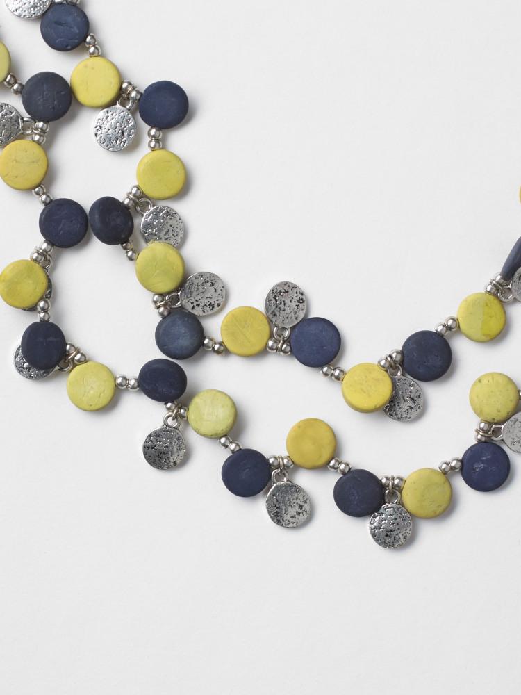 Metal & Bead Mono Necklace