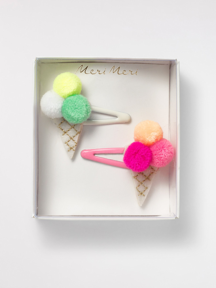 Pompom Icecream Hairslides