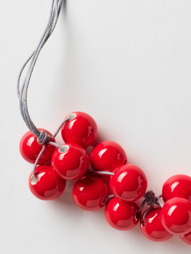Cluster Ceramic Bead Necklace