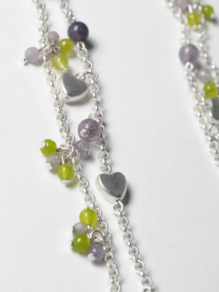 Colour Heart Cluster Necklace