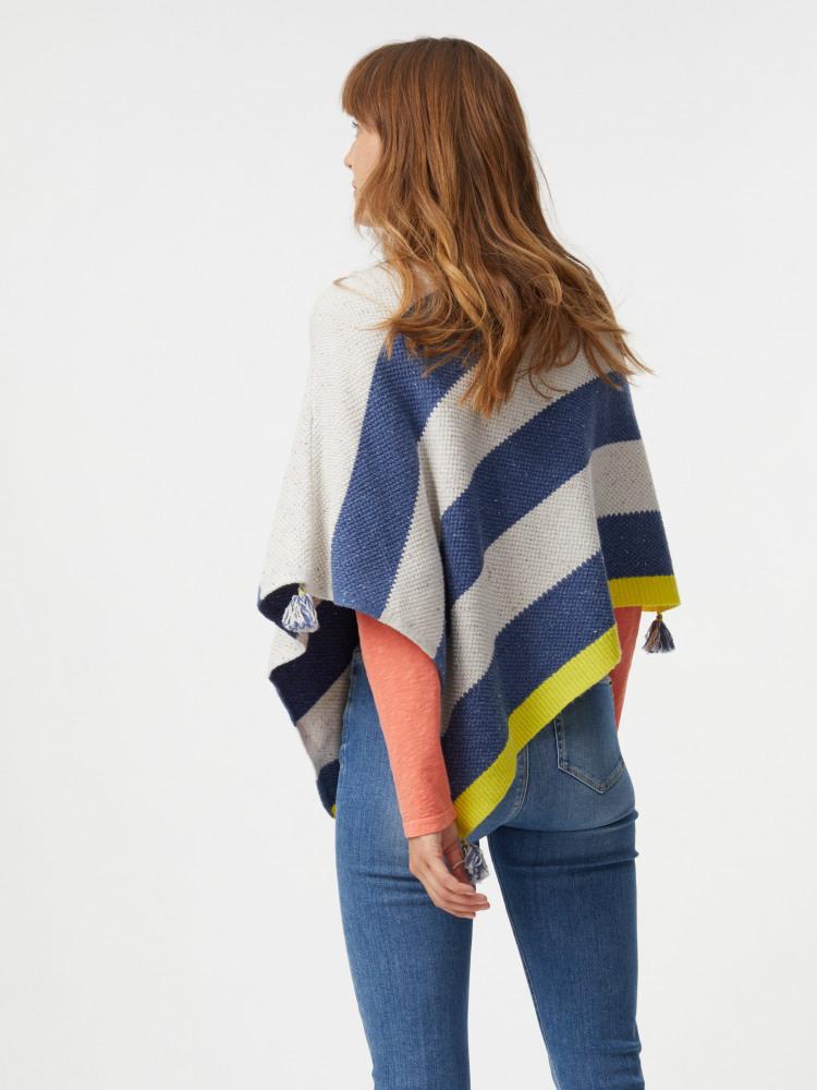 Stripe Tassel Poncho