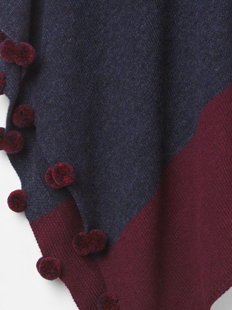 Penelope Colour Block Poncho