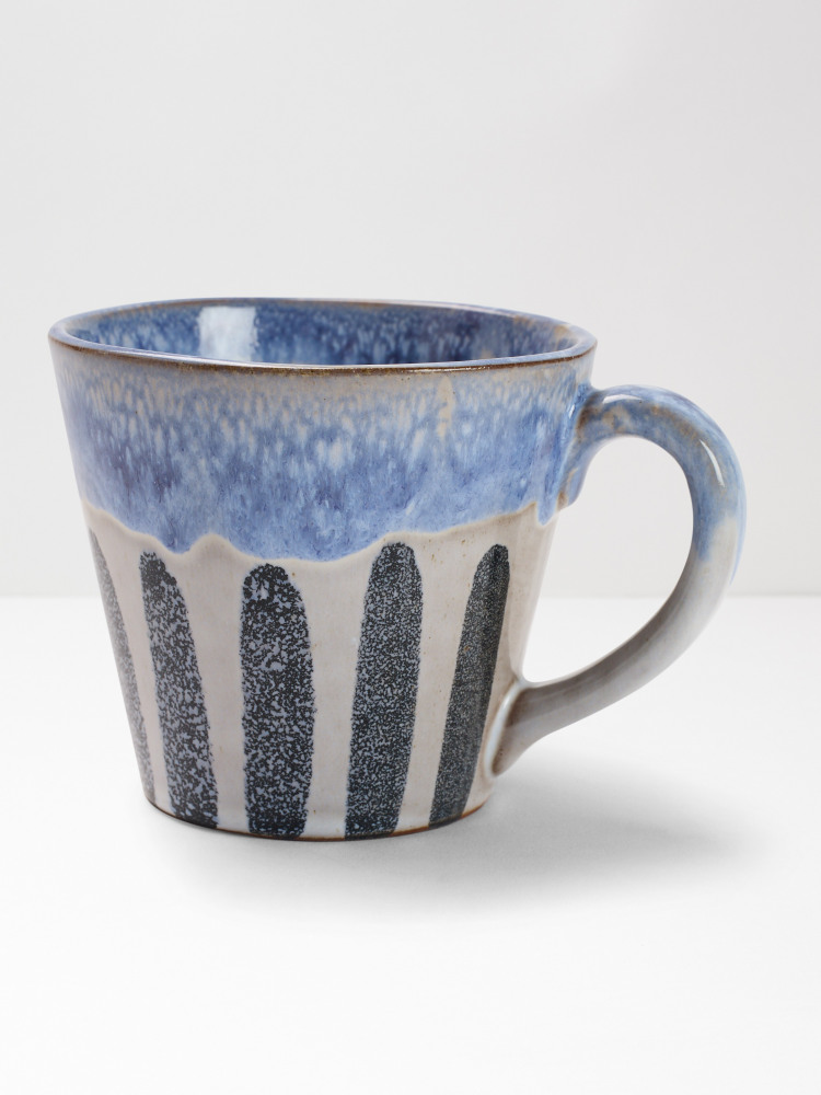 Tall Blue Stripe Mug