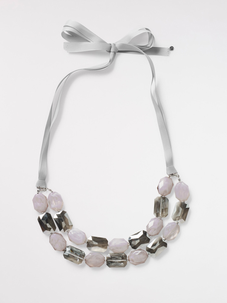 Double Layer Faceted Necklace