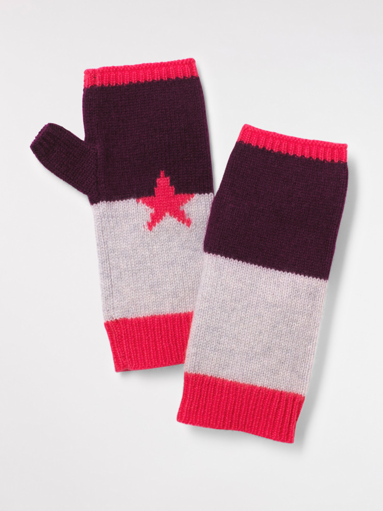 Cashmere star fingerless glove