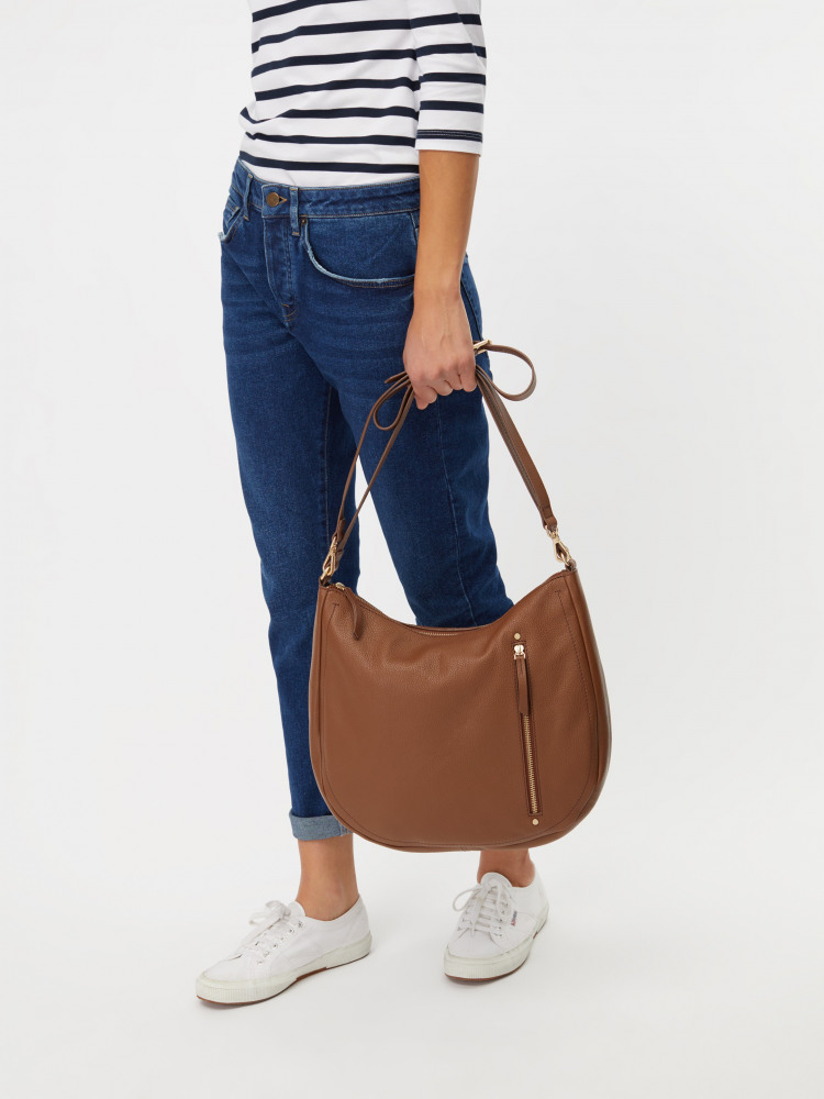Beatrice Leather Hobo Bag