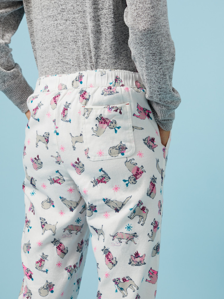 0bbcdda5e Snowing Cats   Dogs PJ Bottom (Winter Teal Print)