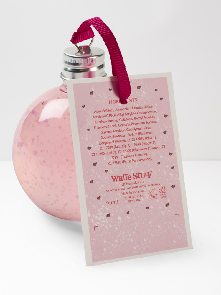 Pink Champagne Bath Bauble