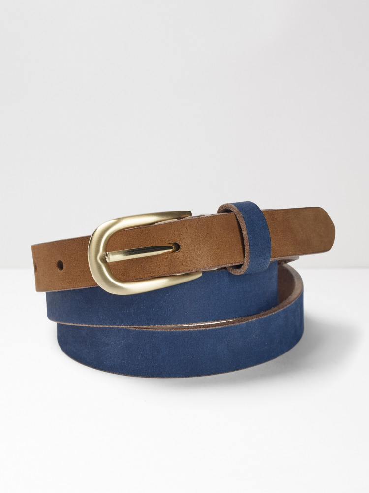 Colourblock Leather Belt