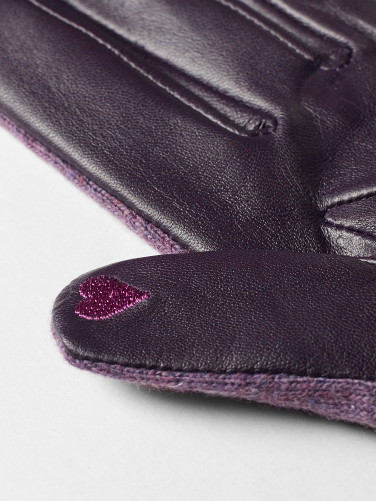 Lucy Leather Embroidered Glove