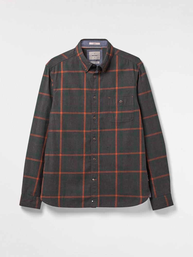 Grommet Flannel Check Shirt