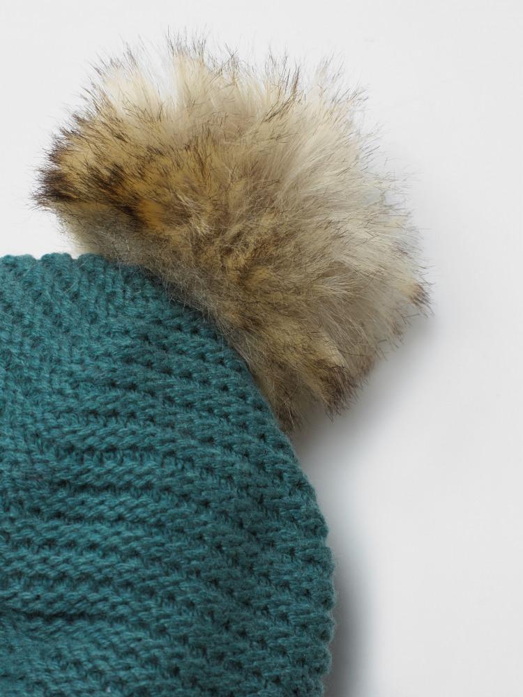 Bridget Plain Bobble Hat