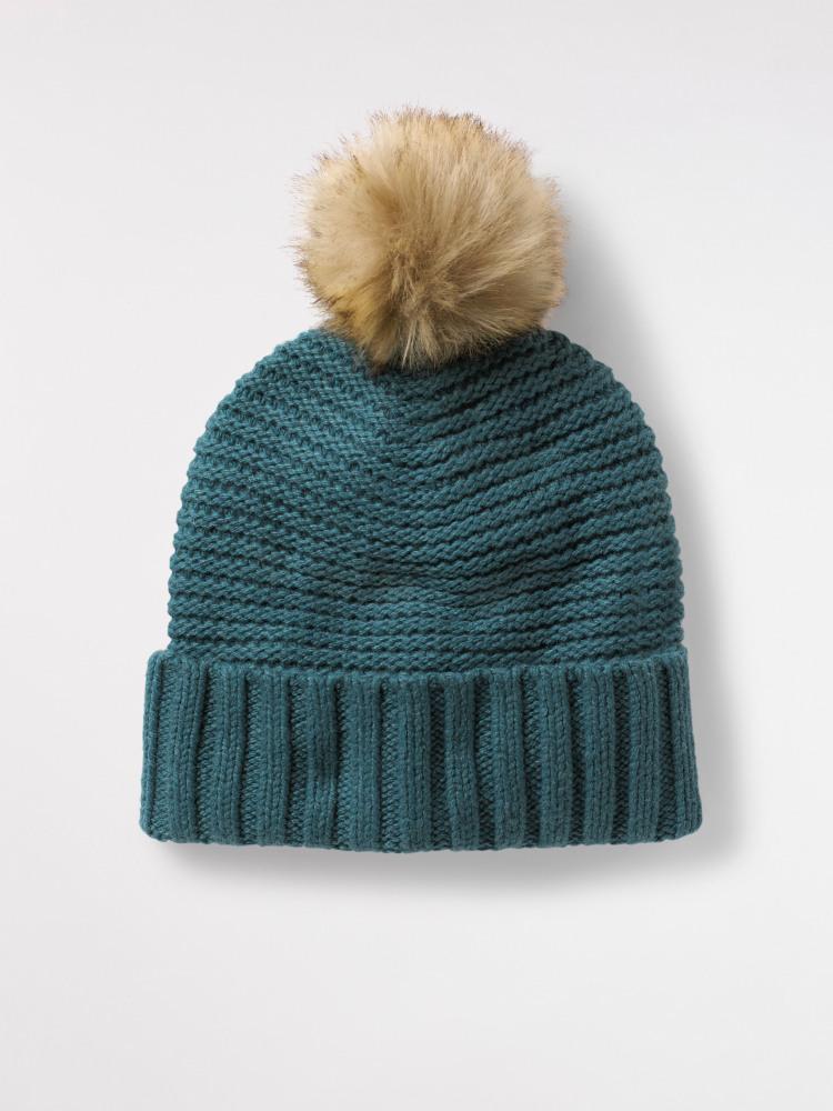 5fdc69e6bf4 Bridget Plain Bobble Hat (Stream Blue Plain) | White Stuff