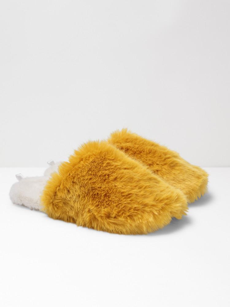 Furry Footbed Mule