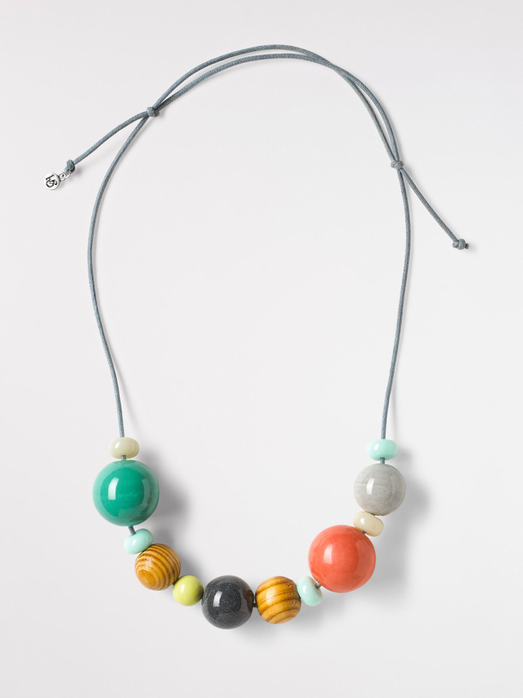 Spacer Ceramic Bead Necklace