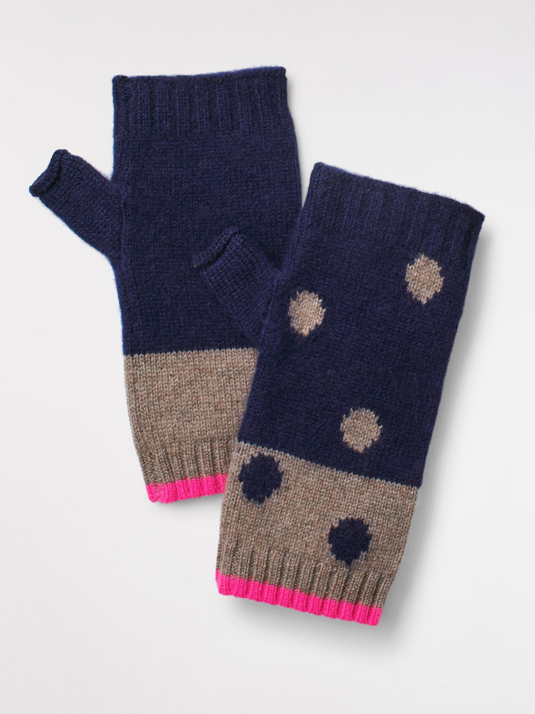 Cashmere Spot Fingerless Glove
