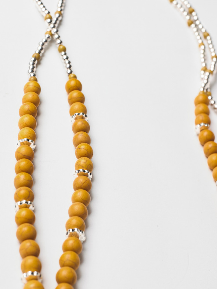 South Bead Dbl Layer Necklace
