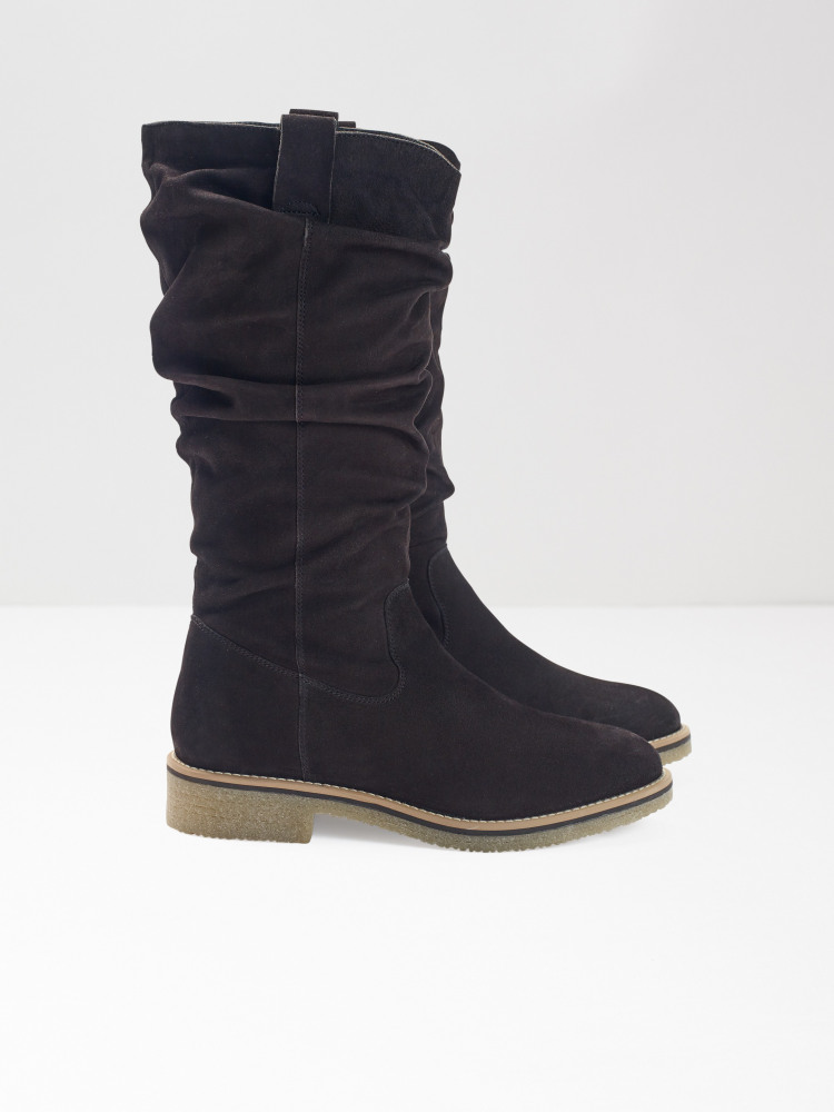Sylvie Ruched Mid Height Boot