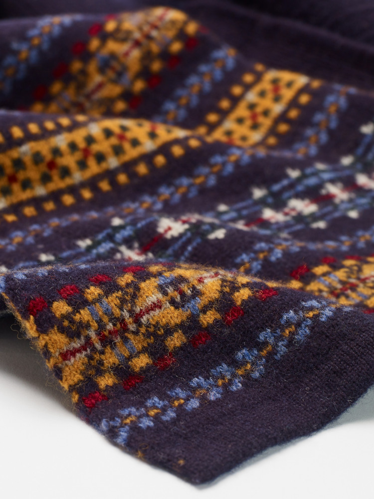 Liam Fairisle Knit Scarf
