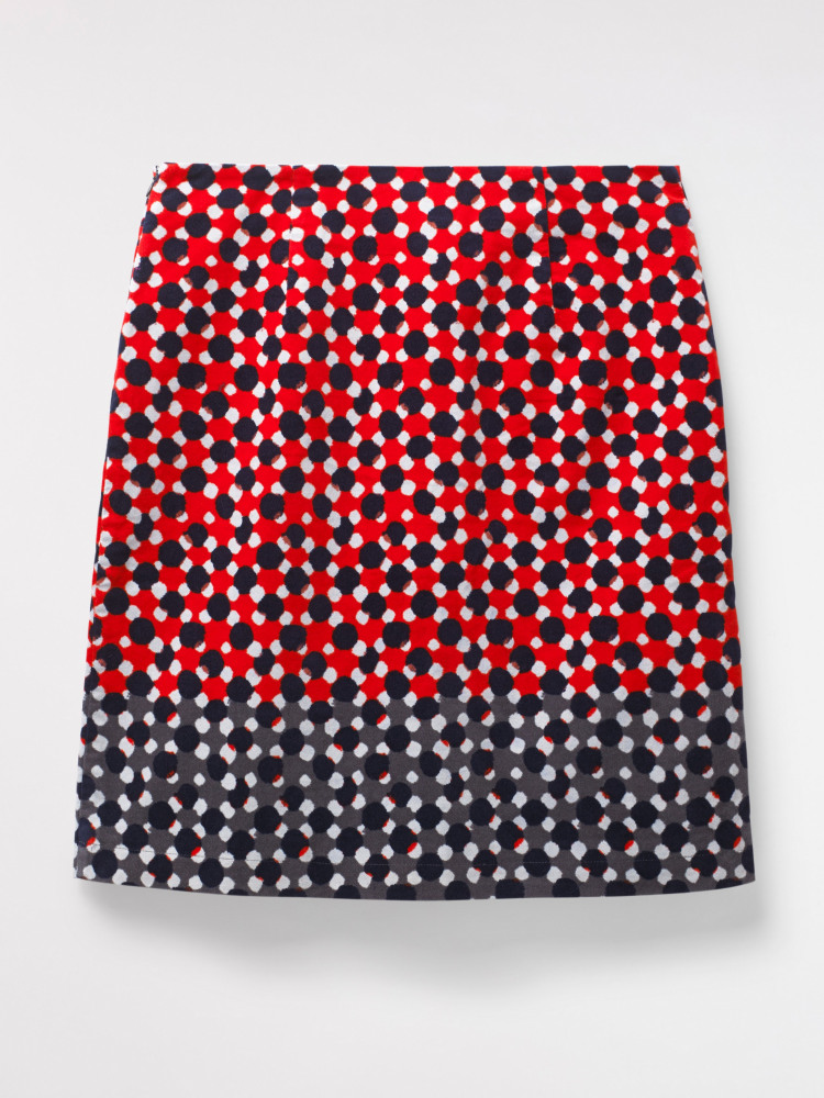 Hedgerow Spot Velvet Skirt
