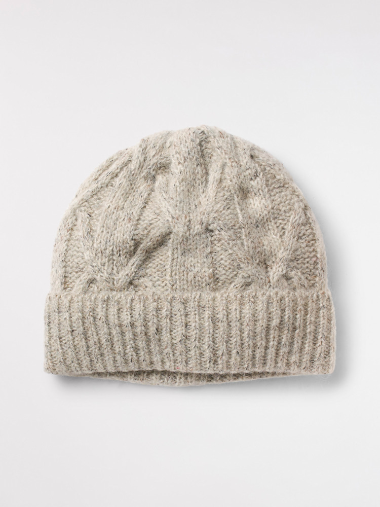 Plain Cable Beanie Hat